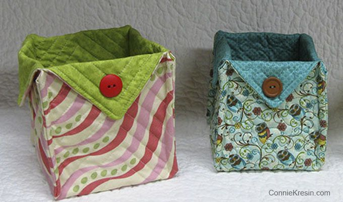Fabric Baskets Tutorial for all kinds of beautiful fabric baskets that are very easy to make. Perfect for gifts.
