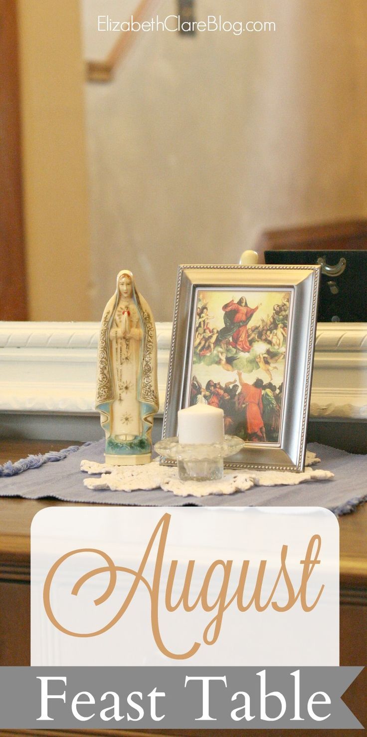 Ideas and book list for celebrating the Catholic liturgical month of August in the family home with kids!