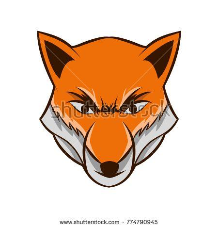 Fox Head Logo Isolated