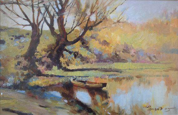Landscape by Bogdan Goloyad 16x24 cm oil on by BogdanGoloyadArt