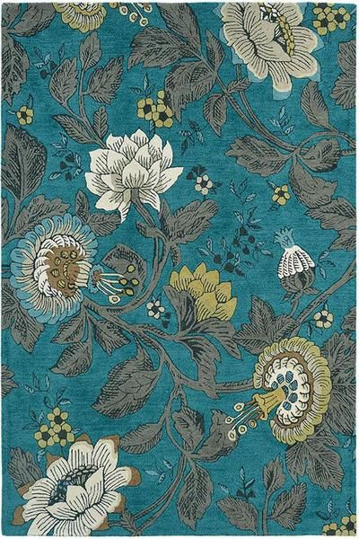 For luxury and style, look no further than a Wedgwood designer rug. The Wedgwood Passion Flower Teal Designer Rug is one of our favourites: