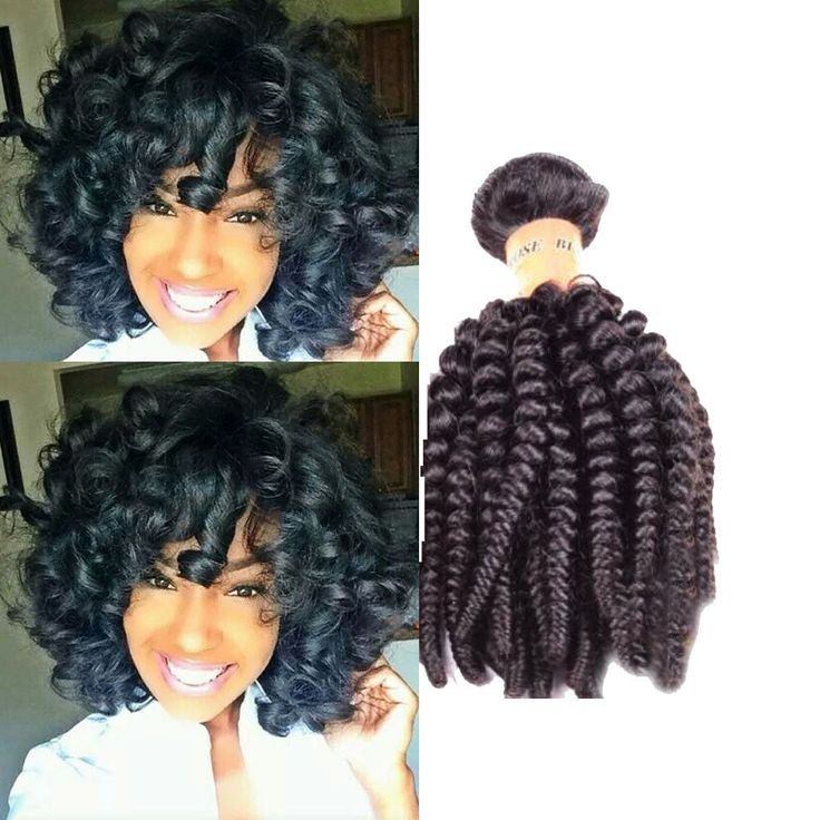 "Black Brazilian Human Hair Extension Kinky Curly Hair Weft 10""12""14"" 3Bundles #Unbranded"