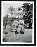 Algérie, militaires Vintage print Tirage argentique 6,5x10,5 Circa 1900