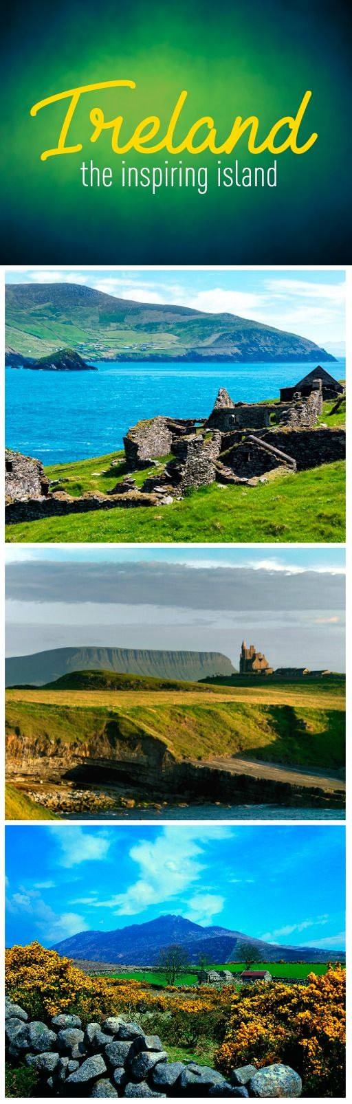 When you walk through Ireland's staggeringly beautiful landscapes, breathing in fresh air that's washed over wild, blooming hedgerows, rolling fields, and towering cliffs, even the least artistic of us can feel inspired! So just imagine how J.R.R. Tolkien, W.B. Yeats, and C.S. Lewis felt when they drank in the views and tranquility of this beautiful little island…and went on to write some of the world's most beloved literature.