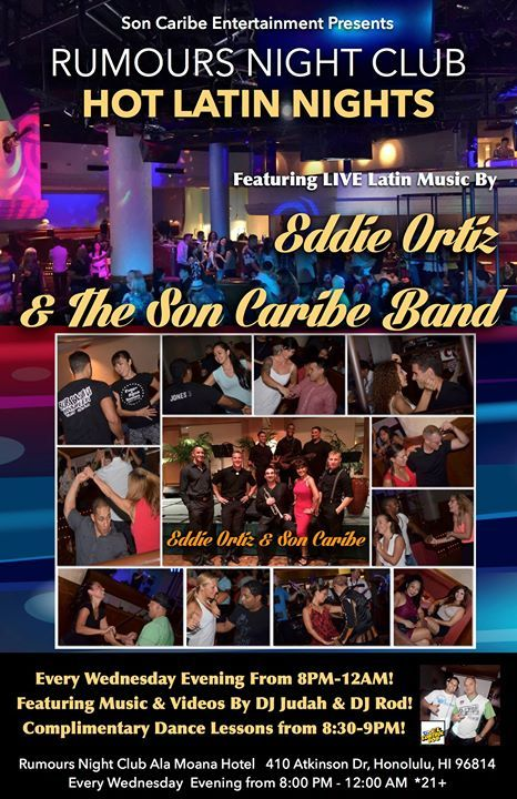 Son Caribe - Rumours Night Club's Hot Latin Nights! - http://fullofevents.com/hawaii/event/son-caribe-rumours-night-clubs-hot-latin-nights-5/