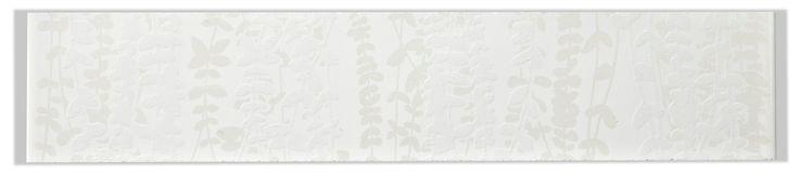 Meadow White Ceramic Border Tile, (L)250mm (W)50mm | Departments | DIY at B&Q