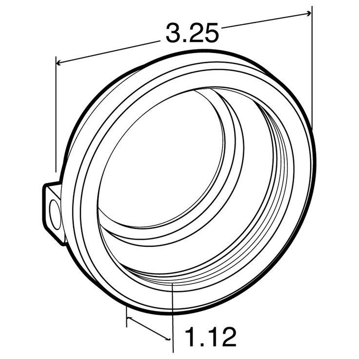 """2.5"""" Open Back Rubber Grommet  10700 / A57GB / 9140 - Parts"""
