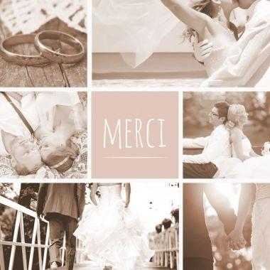 Carte de remerciements tout en douceur pour remercier ses proches avec amour.  Enveloppes offertes !  http://www.lips.fr/impression/carte-remerciement-mariage/format-130-x-130-2p-modele.html?modele_id=611  #mariage #lips