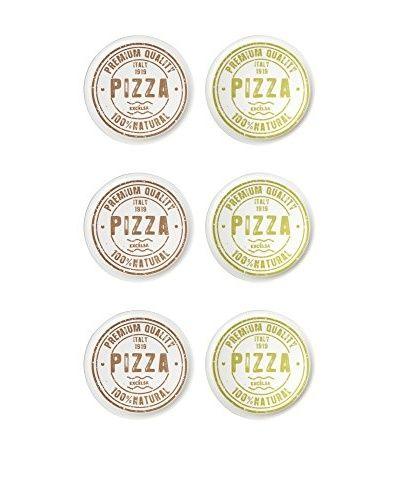 ZZZ_Merry Christmas Pizzateller 6er Set