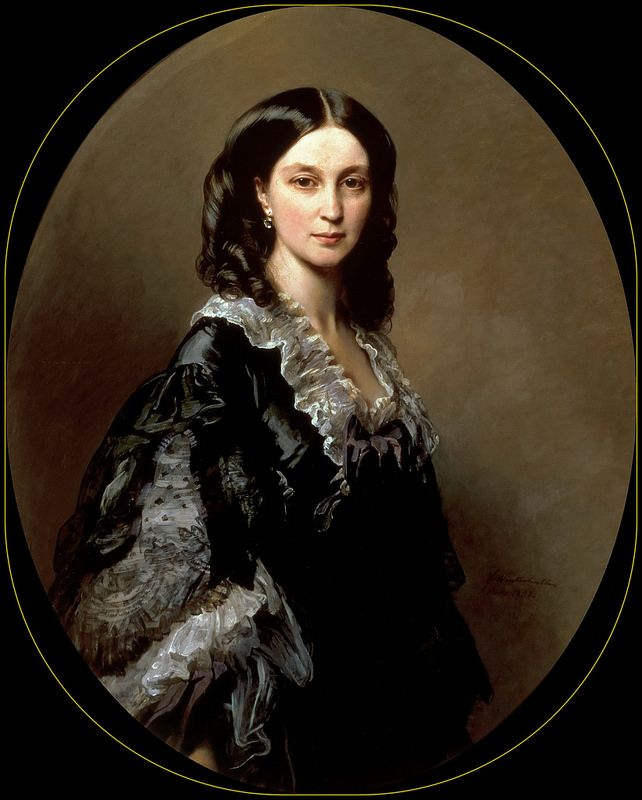 Franz Xavier Winterhalter - Countess Bariatinsky. 1858 | da ros_with_a_prince