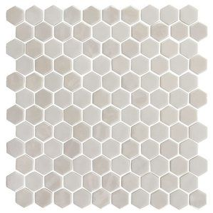"""shower floor? Onix 1"""" x 1"""" Glass Mosaic Tile in Pearl"""