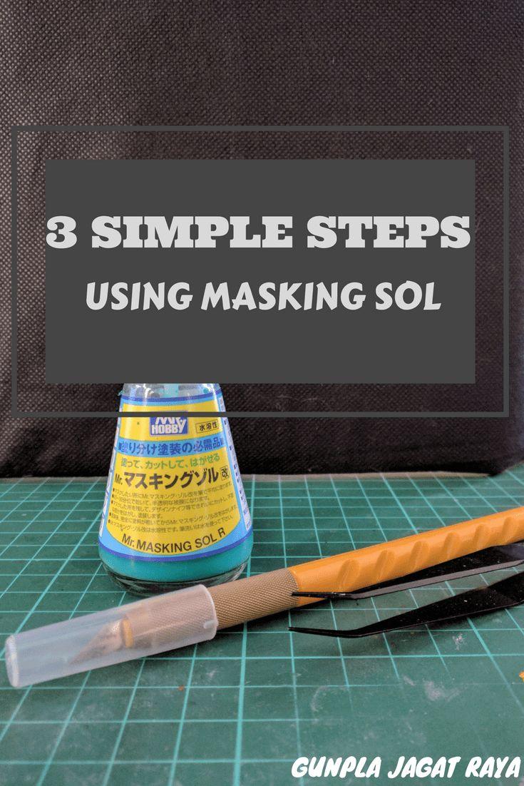 Gunpla tutorial. Gunpla techniques on using masking sol.