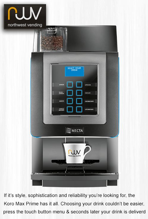 N&W Koro Prime, a good value compact bean to cup machine, perfect for the office or at front of house. #N&W, #N&W Koro Prime, #North West Vending