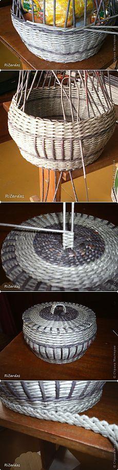 Плетение из газет. Работы и мастер-классы от Ričardas.
