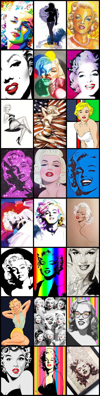Marilyn Monroe Pop Art Montage