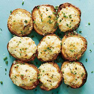 Lemon-Caper Parmesan Potato Salad Bites   MyRecipes.com