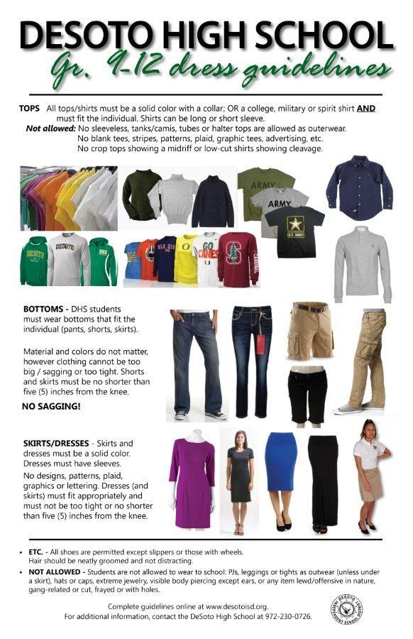 Student Dresscode Desoto Isd School Outfits Highschool