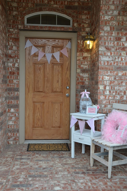 Front Door Welcome To Vintage Shabby Chic Baby Girl