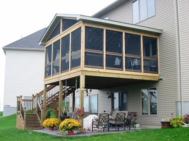 Patio screened porch ideas split level brooks ideas for Split level patio