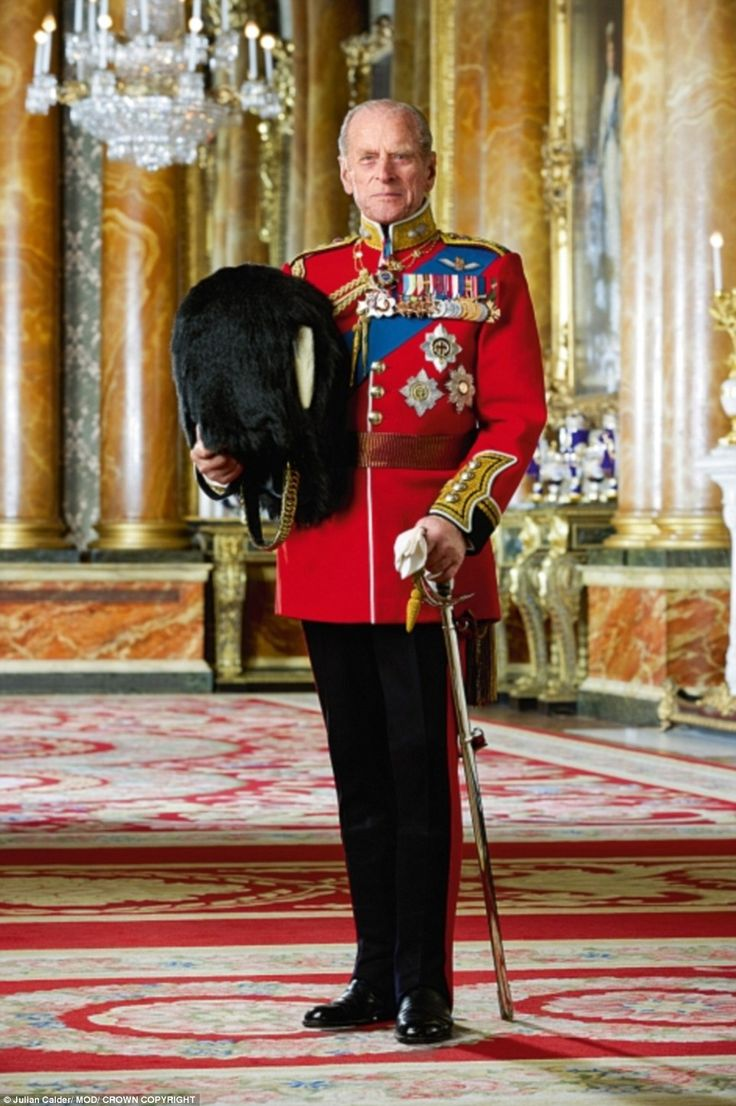 The Duke of Edinburgh, 25th Colonel Grenadier Guards, in Guard Of Honour Order