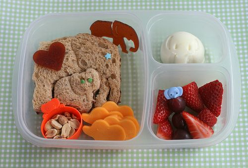 Elephant-Themed Lunch: Using elephant-shaped cutters and molds, create a cute lunch packed with elephant-shaped foods.