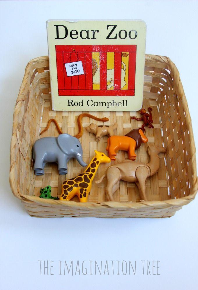 Dear Zoo storytelling basket for preschoolers
