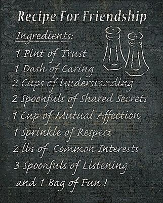 Recipe For Friendship Sayings Recipe For Friendship