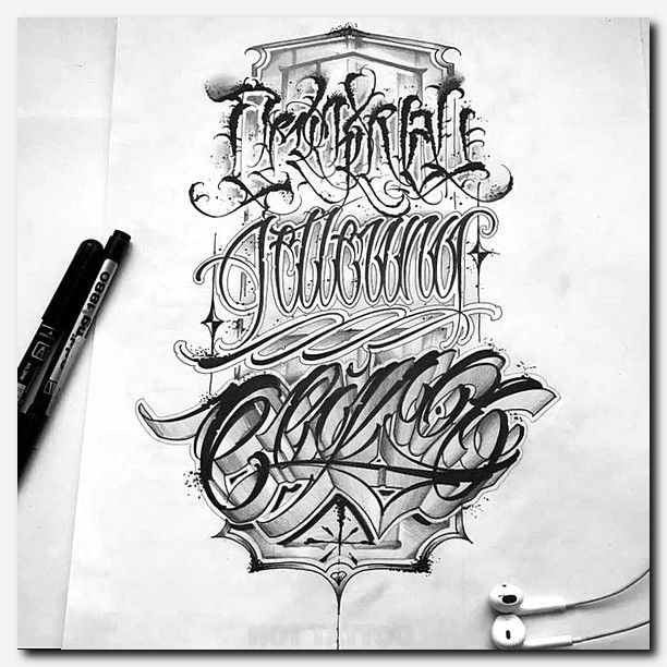 23 Tattoo Lettering Fonts Chicano Lettering Tattoo Lettering