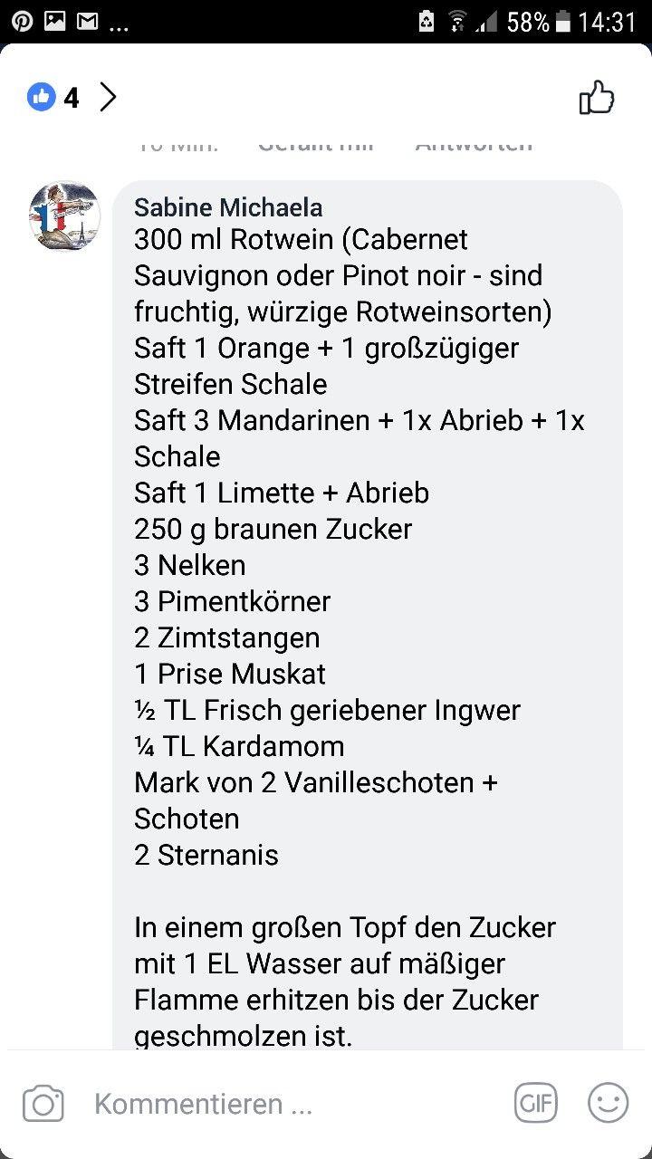 Pin by Andrea Dietrich on Glühwein und Getränke | Pinterest