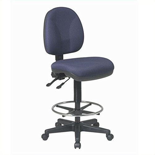 Office Star Deluxe Ergonomic Drafting Chair With Diameter Footring, Seat  And Back Tilt Adjustment (special Order)   Interlink Flint   Star  Stockpiles ...