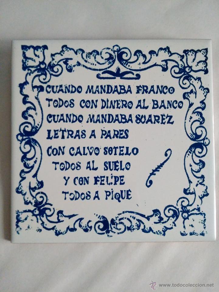 Calca cer/ámica Frases decorativas R/ótulos Refranero espa/ñol Cer/ámica para colgar TORO DEL ORO 31 Azulejo fabricado artesanalmente para decorar Refranes