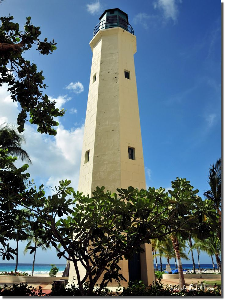 Needhams Point lighthouse is situated in the grounds of the Hilton Barbados hotel on the south-west coast of the island.