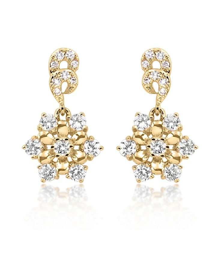 Big Tree 18k Gold Plated Cz Diamond Elaborate Earring For Women, http://www.snapdeal.com/product/big-tree-18k-gold-plated/627446036411
