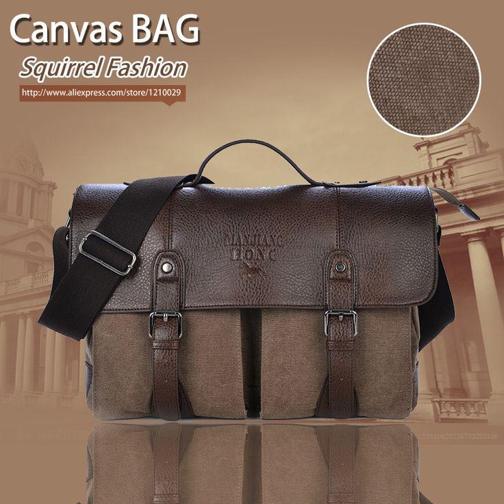 Eekhoorn fashion hoge kwaliteiten promotie canvas cover business jurk mannen aktetas tas vintage casual handtassen