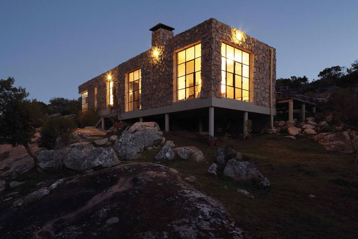 A house built out of boulders in Uruguay. Photo: Cristobal Palma for The New York Times