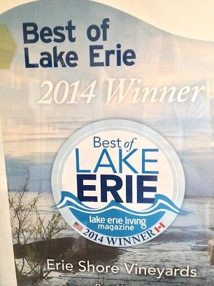 Our 2010 Chambourcin chosen as the Best of Lake Erie