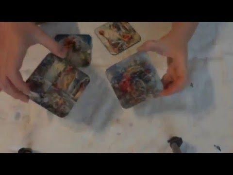 podkładki na prezent decoupage / pads tea decoupage - YouTube