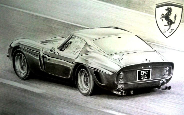 Ferrari 250 GTO drawing