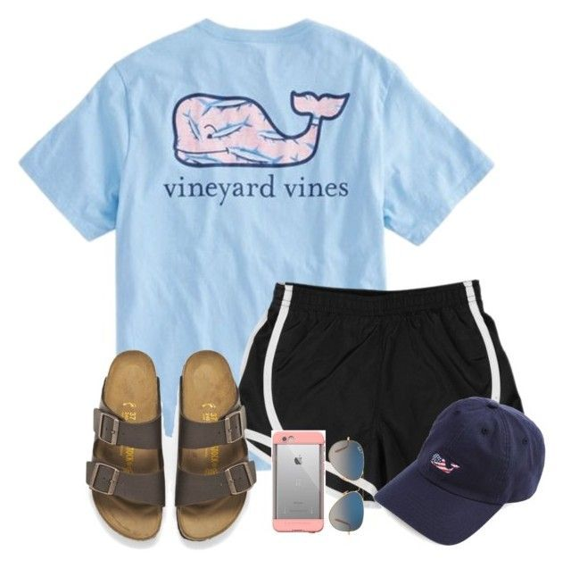 """Meet me// Madelyn"" by southern-preps1 ❤ liked on Polyvore featuring Vineyard Vines, NIKE, Birkenstock, LifeProof and Ray-Ban"