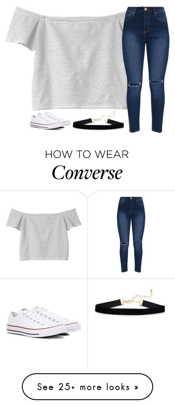 """Untitled #3098"" by laurenatria11 on Polyvore featuring Monki and Converse"