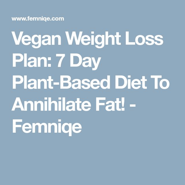 Vegan Weight Loss Plan: 7 Day Plant-Based Diet To Annihilate Fat! - Femniqe