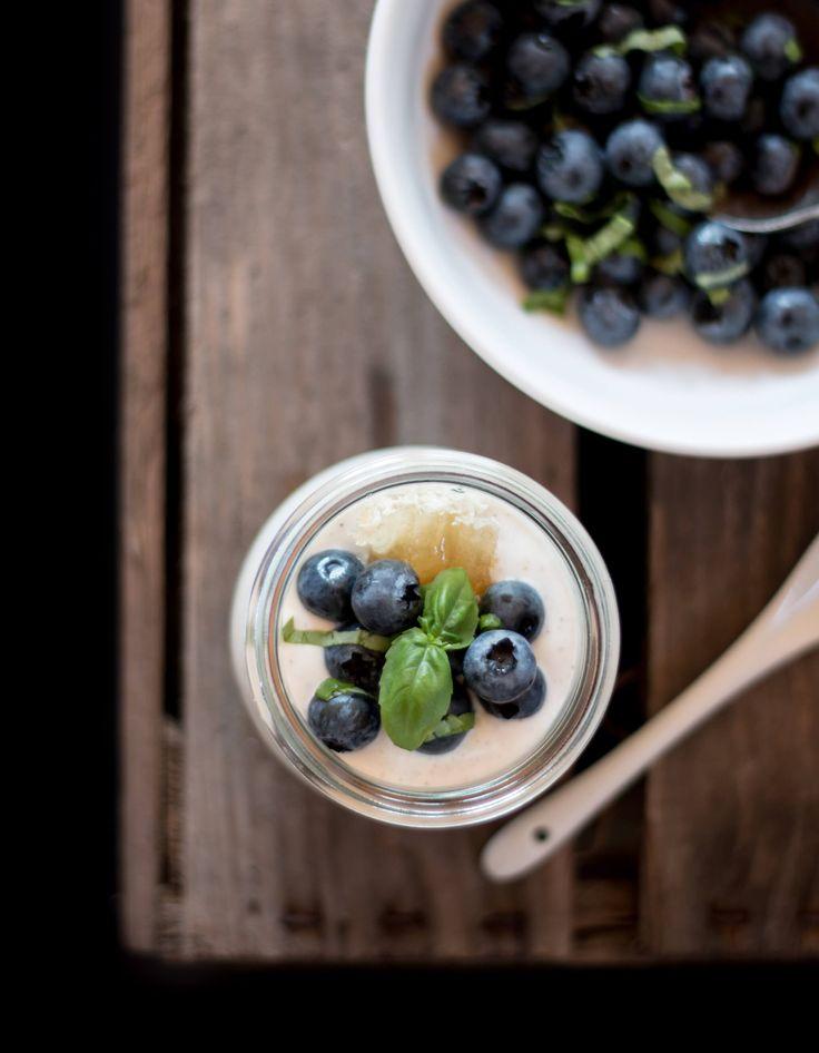 Blueberry Goat Cheesecake Jars   Heidelbeer Cheesecake im Glas {flowers on my plate}