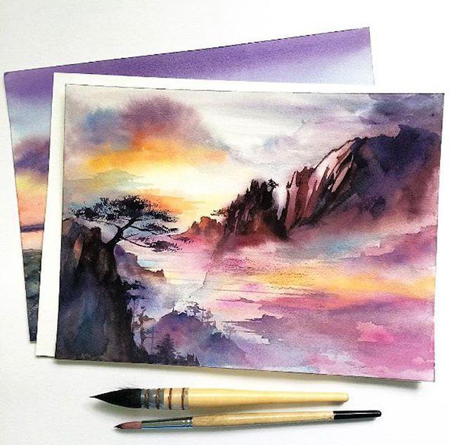 Watercolorist: @tonyashe  #waterblog #акварель #aquarelle #painting #drawing #art #artist #artwork #painting#illustration #watercolor #aquarela