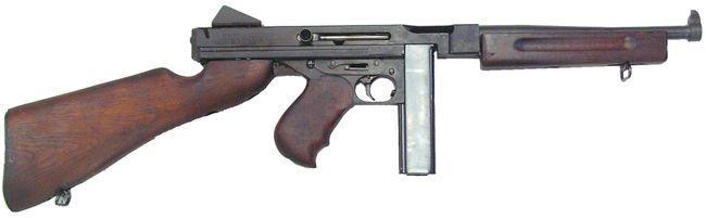 Ametralladora Thompson M1 con cargador recto (20 balas)