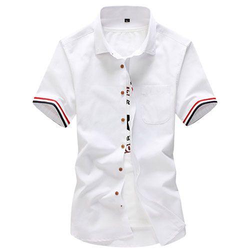 New Brand Men Summer Fashion Clothes,British Style Short Sleeve Dress Shirt,Slim Fit Mens Camisa Masculina,Plus Size Shirt M-5XL
