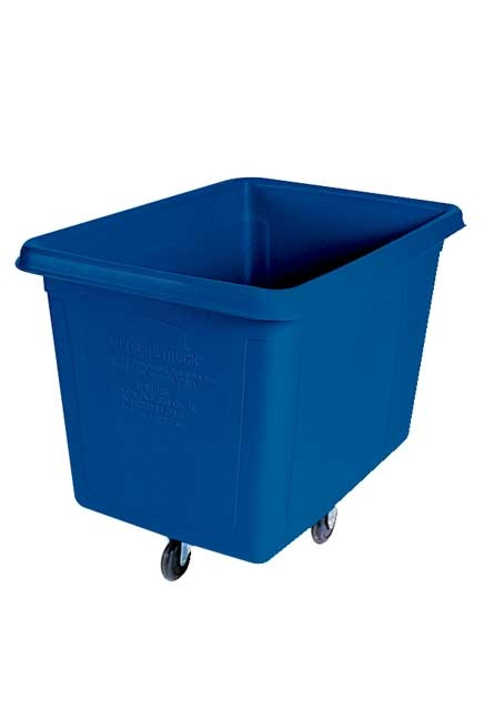 Laundry blue trolley cubic: Laundry trolley 8 blue cubic foot.