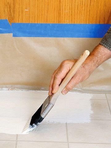 Painting Vinyl Flooring and Ceramic Tile - Paint & Epoxy Finishes - Flooring Installation. DIY Advice
