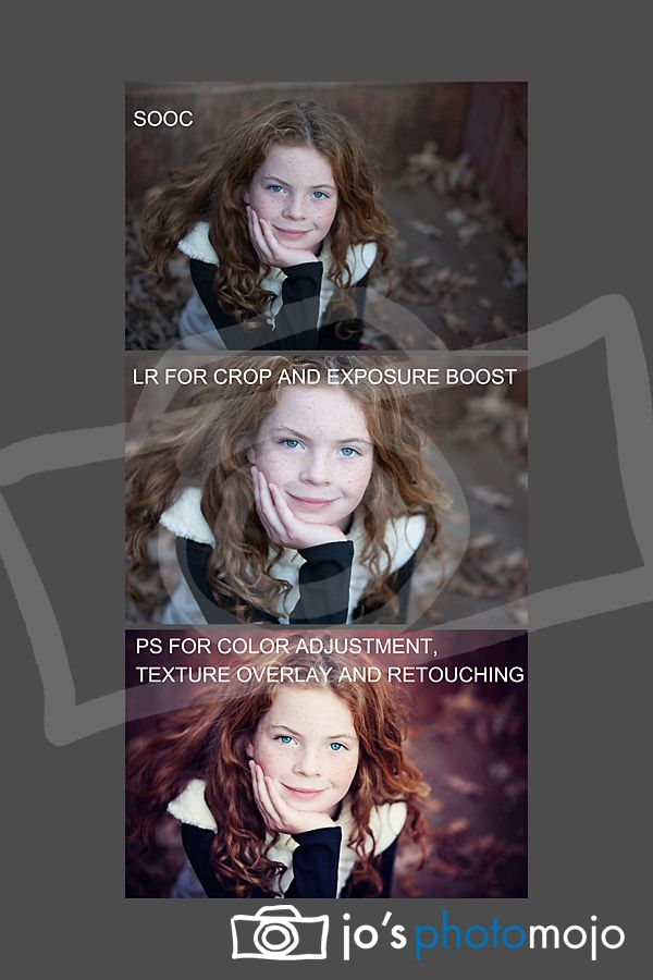 General photo editing workflow. Starting with straight out of camera, basic edit in Adobe LightRoom and finishing in Photoshop CS5.