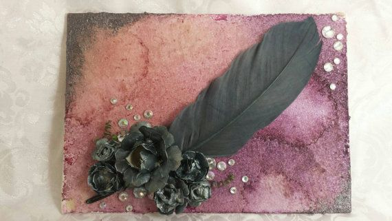 Check out this item in my Etsy shop https://www.etsy.com/listing/252282618/inverse-mixed-media-canvas-with-a