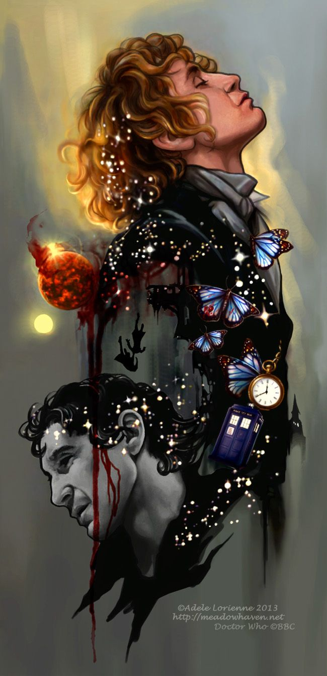 """""""Paul McGann as the 8th Doctor.  A Rose With A Thorn by `Saimain on deviantART"""" THAT IS AWESOME!"""